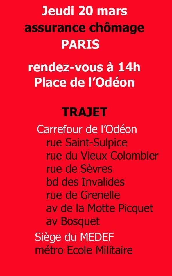 Manifestation à Paris le 20 MARS