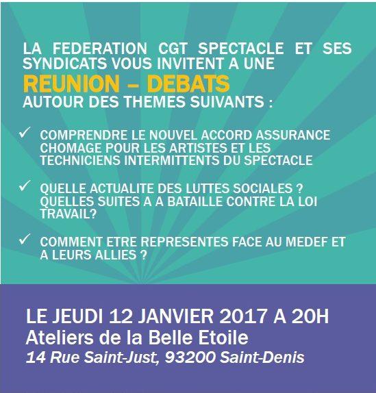CGT Spectacle 12 janvier à 20h : Annexes 8&10 – Loi Travail – MEDEF