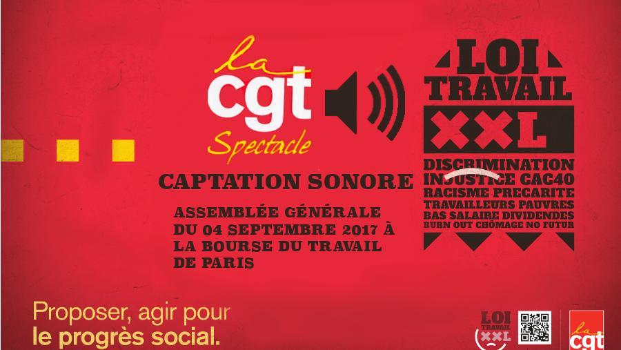 Loi Travail XXL: Captation sonore AG du 04 Septembre