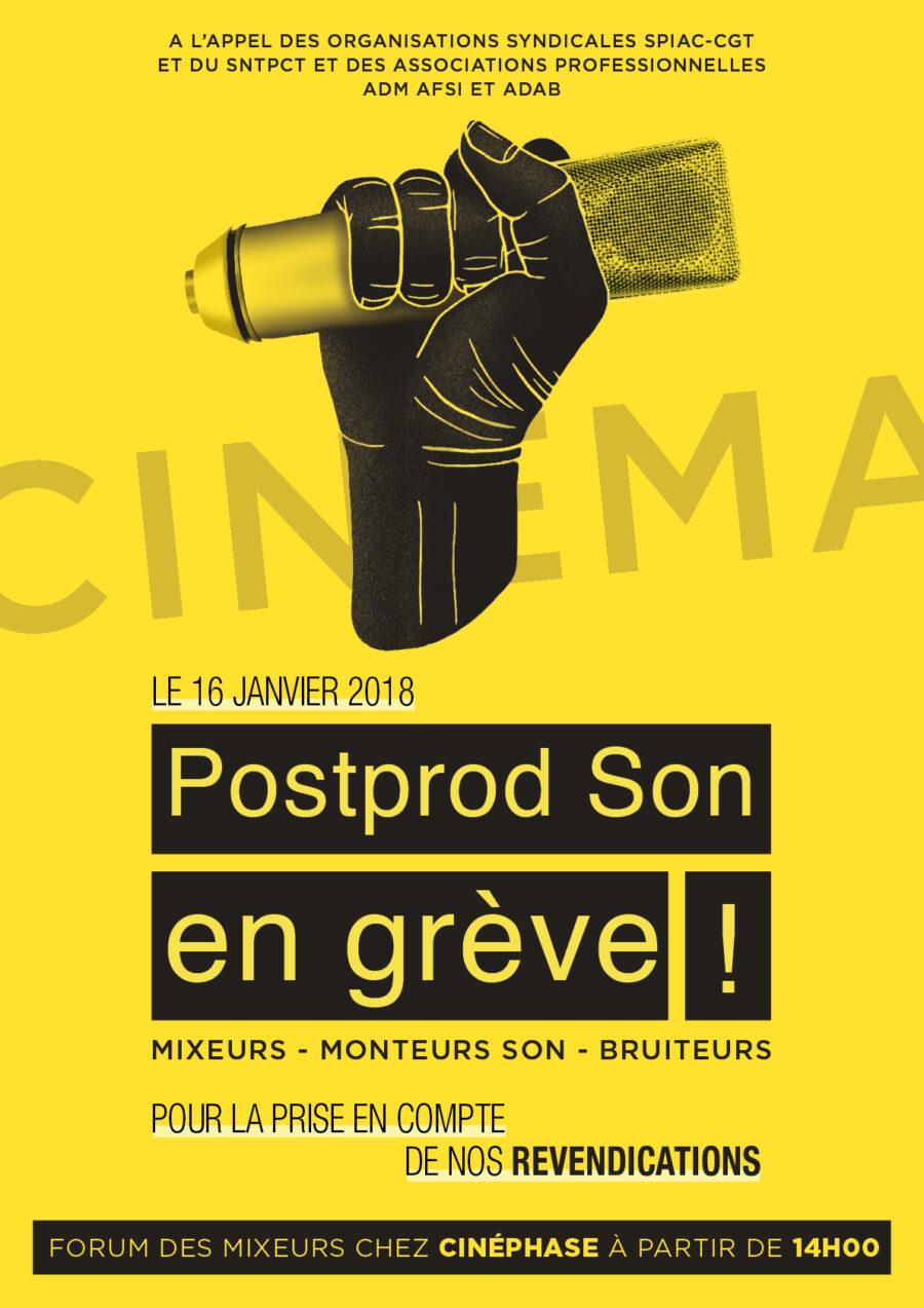 Post-production Son, en grève le 16 janvier