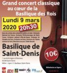 Grand concert classique de solidarité au coeur de la Basilique des Rois à Saint-Denis