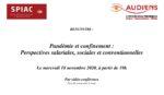 Rencontre / Pandémie et confinement : Perspectives salariales, sociales et conventionnelles