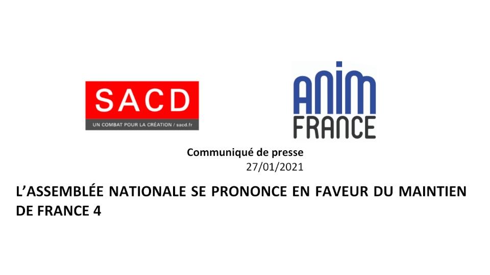 L'Assemblée Nationale se prononce en faveur du maintien de France 4