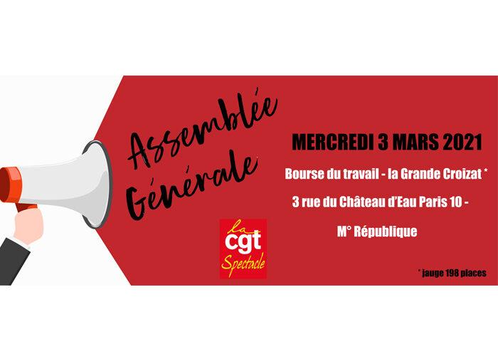 Paris : Assemblée Générale mercredi 3 mars – 12H – Bourse du Travail