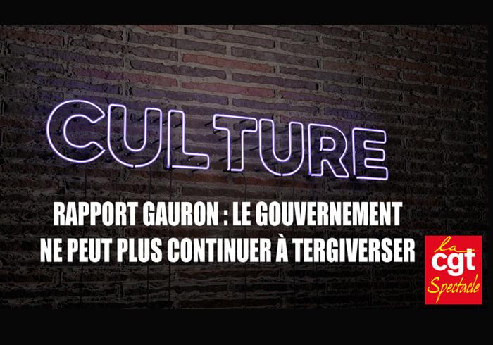 Rapport Gauron : Le Gouvernement ne peut plus continuer à tergiverser !