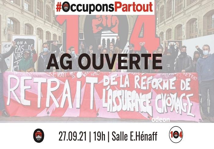 LUNDI 27 SEPTEMBRE, 19H – AG OUVERTE «OCCUPONS PARTOUT»